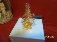 """2003 Danbury Mint Annual Christmas Tree Gold Plated Ornament 4"""" Free Standing"""