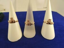 Ladies Girls 9ct ROSE Gold CLADDAGH IRISH Celtic Signet Ring sizes L-R