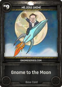 Gnome Series MR. DOGE GNOME Musk - Digital NFT Blockchain Card - Mint #390 RARE!