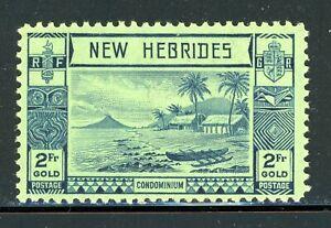 NEW HEBRIDES BRITISH MLH Selections: Scott #59 2Fr Beach Scene Palm 1938 CV$22+