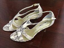 Bandolino Footwear Womens Arleen Faux Snakeskin Open Toe SlingBack Pumps Sz 8.5