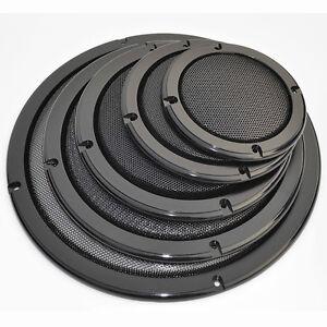 1pcs 2/4/5/6.5/8/10 inch Speaker Cover Decorative Circle Metal Mesh Grille Black