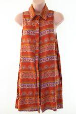 GLAMOROUS @ ASOS orange boho paisley print smock dress size S 10 euro 38