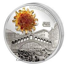 Andorra 15 Diner 2 oz. Silber Murano Art en Cristall-Rialtobrücke Rarität Rialto