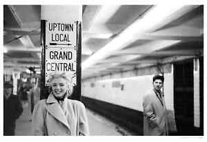 Marilyn In Grand Central Station, Print by Michael Ochs