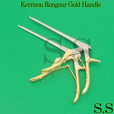 Set Of 2 Kerrison Rongeur 7 Shaft 2mm 3mm 45 Up Bite Gold Handle Orthopedic