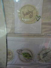 Brand New Bubba Blue Cot Sheet Set  Baby Boy Girl Neutral Naturally Design