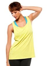 Women's Oakley Muscle Girl Tank Top Sleeveless Shirt Limeade Yellow Size Large