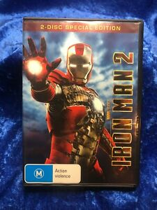 Iron Man 2 Special Edition 2 Disc Region 4 DVD Free Postage