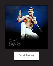 FREDDIE MERCURY #1 Signed Photo Print 10x8 Mounted Photo Print - FREE DELIVERY