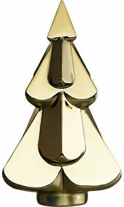 Baccarat Crystal Noel Snowy Christmas Tree - Metallic Gold With RED BOX SET!!