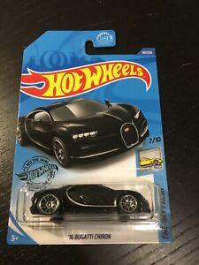 HOT WHEELS Long card mainline 2020 Bugatti chiron noir