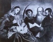 Madonna and Child With Saints, Titian, Magic Lantern Glass Art Slide
