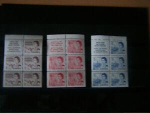 CANADA,1967,3 X BOOKLET PANES,U/M.EXCELLENT.