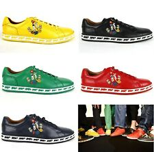 New Bally Men's Anistern Nappa Leather Low-Top Sneakers Animal Collection