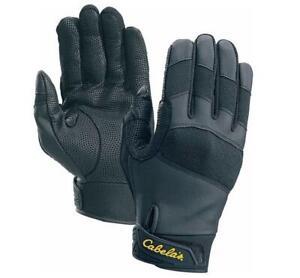 Cabela's Men's Upland Bird Hunting Black Leather Uninsulated Shooting Gloves