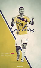 """013 James Rodriguez - Colombia Football World Cup Top Stars 24""""x40"""" Poster"""