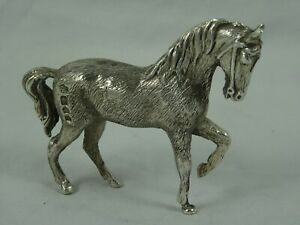 QUALITY sterling silver MODEL of a HORSE, 1973, 117gm