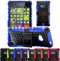 Shock Proof Heavy Duty Tough Armour Stand Case Cover For Microsoft Lumia 535