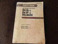 komatsu bulldozer D41A-3 NO 6603  D41P-3 6474 parts book manual