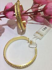 orecchini donna marca stroili in metallo dorato linea new moon cerchi  cristalli