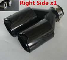 1x Y-Style Right Side Glossy 100% Real Carbon Fiber Exhaust 63/ 89mm Dual Pipe