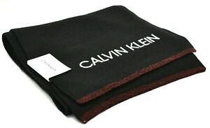 Calvin Klein Men's Knit Scarf Black White New! NWT