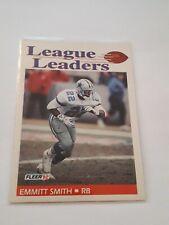 1992 EMMITT SMITH DALLAS COWBOYS #453 FLEER 92 LEAGUE LEADERS NFL FOOTBALL CARD
