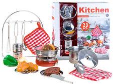 Küche Geschirr Kochzubehör Kochtopf Kinderküche Kochtopf Töpfe 23 Tlg. NEU