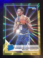 2019-20 Donruss Bol Bol Green Yellow Laser Holo SP Rookie rc Denver Nuggets #234