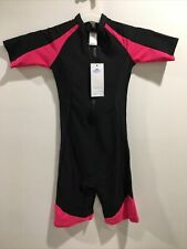 Short Sleeve One Piece Wetsuit Surfing Swimming Sucba Diving Skin Swimsuit Small