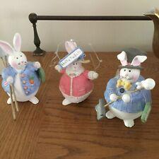 3 Sandi Gore Evans bunny rabbits. 4-1/2� Gardener, snow shovel, Hallelujah!