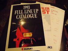 SUZUKI FULL LINE UP CATALOGUE 1993 WITH PRICE LIST RF600R