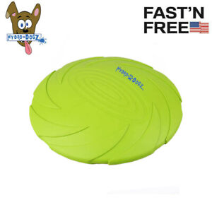 Dog Toy Flying Frisbee Disc Flexible Durable Rubber Chew Fetch Toys