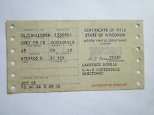 1938 Chevrolet Town Coach Barn Find Historical Document