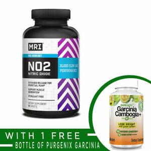 MRI Performance NO2 Nitric Oxide Pre Workout Pump Muscle 90 caps + FREE GARCINIA