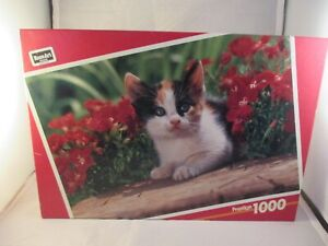 BRAND NEW 1000 Piece Rose Art Prestige Puzzle Cat & Flowers  SEALED
