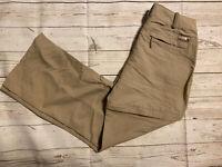 The North Face Womens Convertible Hiking Pants Cargo Shorts Size 12 Khaki Nylon