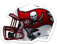 Tampa Bay Buccaneers Helmet w/ Pirate Flag logo type Die-Cut MAGNET