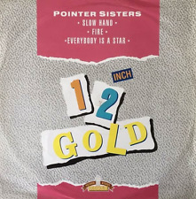 """POINTER SISTERS - Slow Hand/Fire/Everybody Is A Star (12"""") (Old Gold) (G-VG/G-)"""