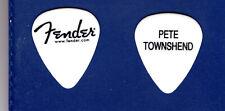 "The Who Pete Townshend White Fender Guitar Pick - ""Moving On ""Tour"