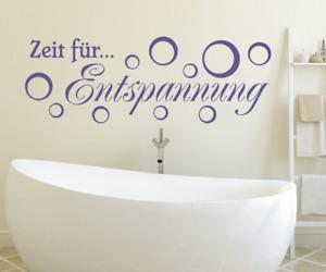 X8108 Spruch Zeit für Entspannung Sticker Wandbild Wandaufkleber Wellness Bad