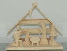 Krippe Weihnachtskrippe Holzkrippe Figuren Weihnachten SET Holz Handarbeit NEU