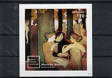 Grenada 2014 MNH World Famous Paintings 1v Imperf S/S Maurice Denis Muses Stamps