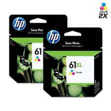 2pk GENUINE HP 61XL OEM Color Ink Printer Cartridge CH564WN 61 XL Deskjet 3050
