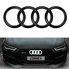 For Audi Q3 Q5 Q7 A6 A7 A8 Black Glow Front Grill Emblem White LED Light Badge