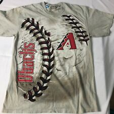 ARIZONA DIAMONDBACKS D-BACKS VTG 3D SHIRT Liquid Blue BIG GRAPHIC MLB baseball M