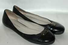 MARC by MARC JACOBS Black Leather Cap Toe Ballet Flats Shoes Sz 11 EU41