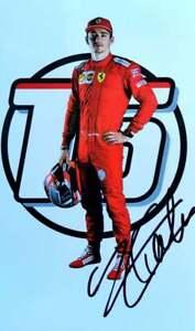 Charles Leclerc signed F1 Scuderia Ferrari official card A/5