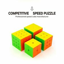 2x2 3x3 4x4 5x5 Stickerless Puzzle Magic Cube Set Speed Brain Teaser Gift Hot